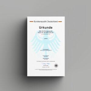 Markenurkunde, Rebranding und Markeneintragung von Orango