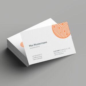 Hochwertige Visitenkarten passend zum Corporate Design und Branding